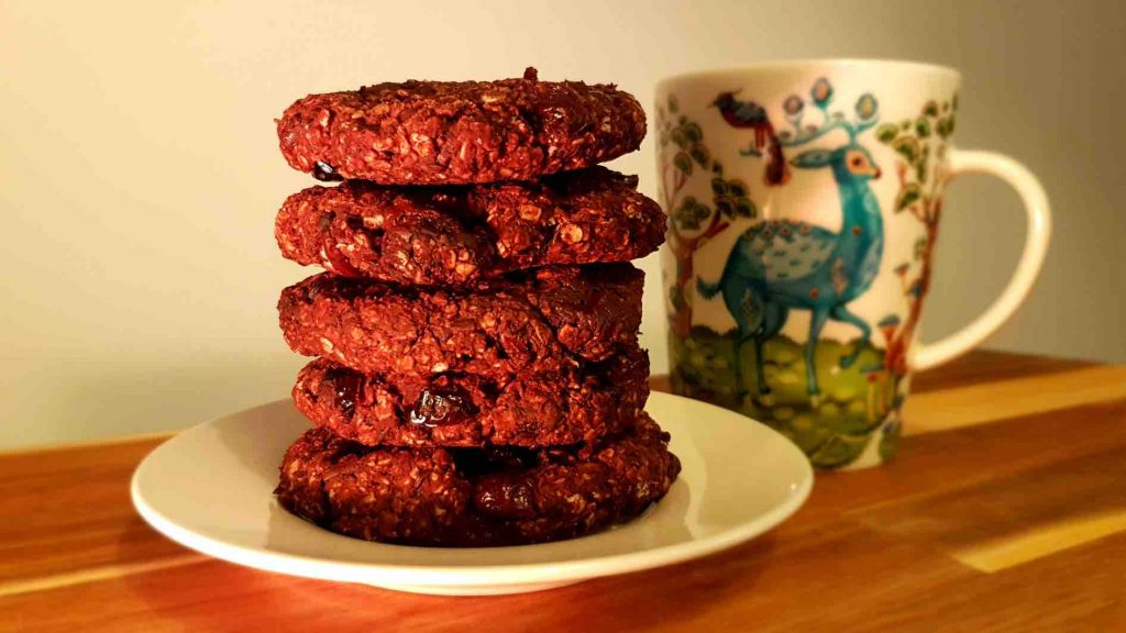 Dark choc & bean cookies